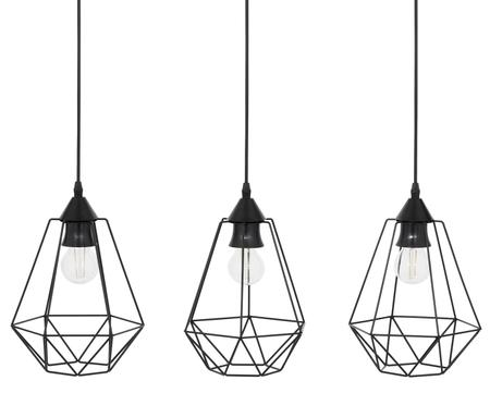 Suspension noire moderne Wire