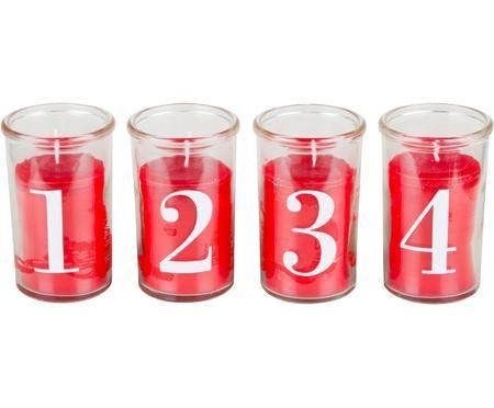 Kerzen-Set Numero, 4-tlg.