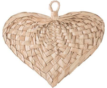 Nástěnná dekorace z pletených palmových listů Heart
