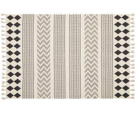 Alfombra artesanal de algodón Edna, estilo étnico
