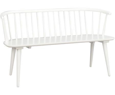 Panca in legno bianca Carmen nel design Windsor