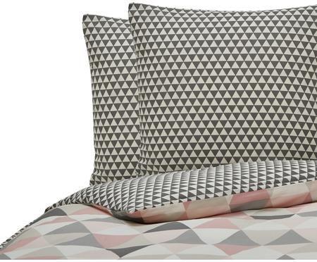 Parure de lit réversible en coton Geometrique