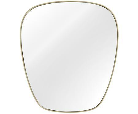Ovaler Wandspiegel Antje mit mattem Goldrahmen