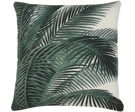 Kissen Vivi mit Palmenprint, mit Inlett