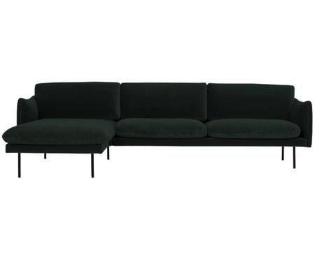 Sofa narożna z aksamitu Moby