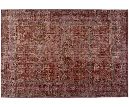 Vintage In- und Outdoorteppich Tilas Izmir in Dunkelrot