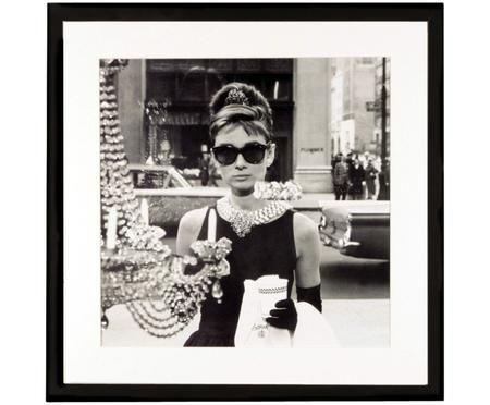 Ingelijste digitale print Hepburn
