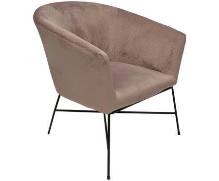 Fotel z aksamitu Lady