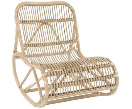 Fotel bujany  z rattanu Kim