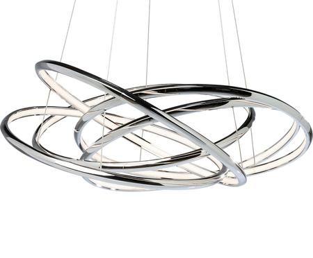 Suspension LED argentée Saturn