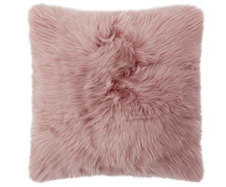 Housse de coussin en peau de mouton lisse Oslo