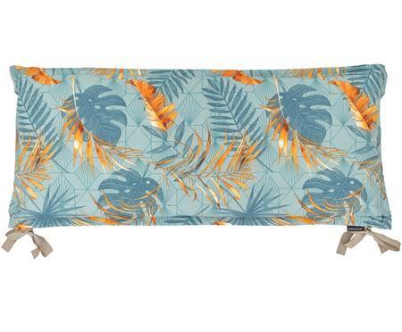 Bankauflage Dotan mit tropischem Print