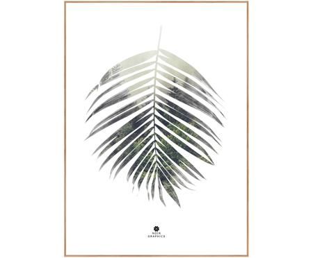 Ingelijste digitale print Palm Leaf