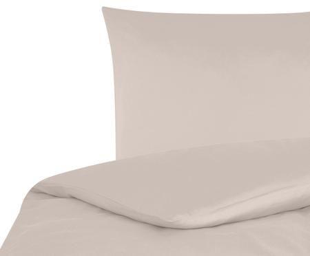 Baumwollsatin-Bettwäsche Comfort in Taupe