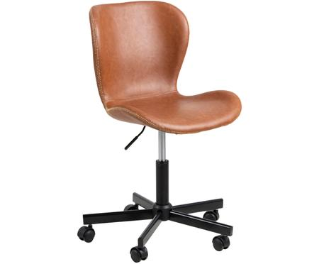 Chaise de bureau en cuir synthétique Batilda