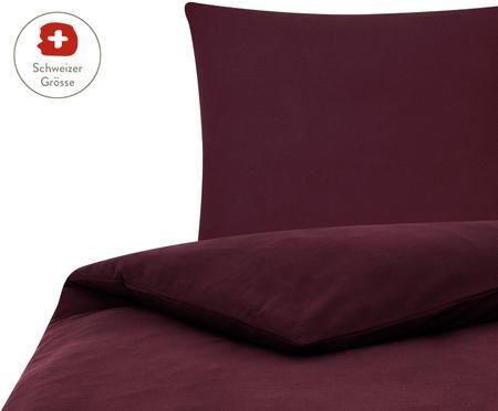 Flanell-Bettdeckenbezug Erica in Dunkelrot