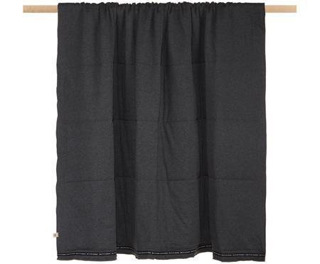 Plaid réversible noir Jersey