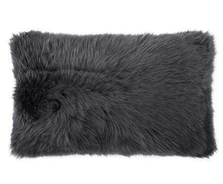 Housse de coussin en peau de mouton Oslo, lisse