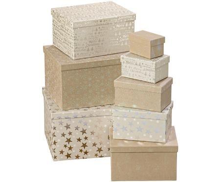 Komplet pudełek prezentowych Star, 8 elem.