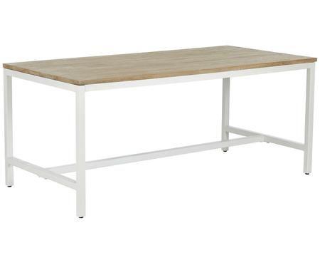 Tavolo da pranzo con piano in legno massiccio Raw