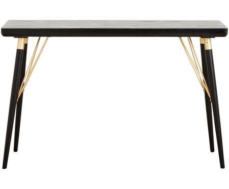 Konzolový stolík Jana so zlatými prvkami