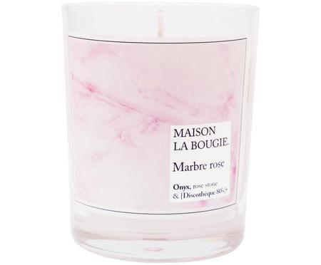 Duftkerze Marbre Rose (Vanille, Benzoebaum & Tonkabohne)