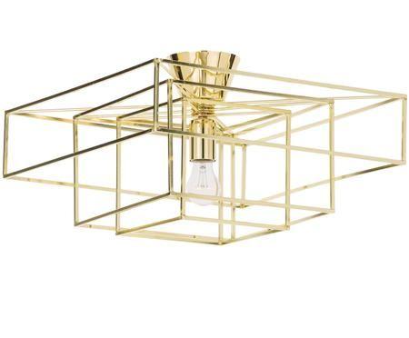 Deckenleuchte Cube in Gold