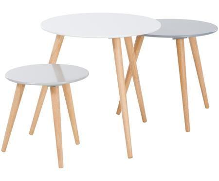 Ensemble de tables d'appoint Stockholm, 3 élém.