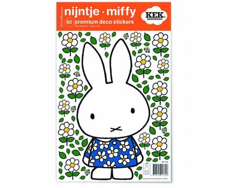 Wandaufkleber-Set Miffy with Blue Dress, 80-tlg.