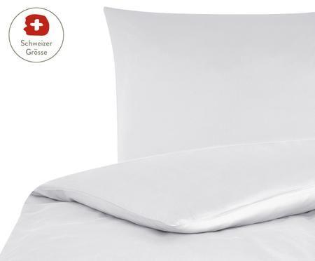 Baumwollsatin-Bettdeckenbezug Comfort in Hellgrau