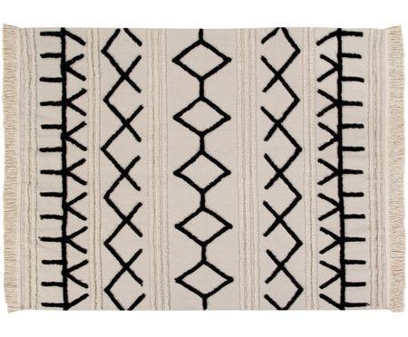 Tapis lavable avec finition frangée Berber