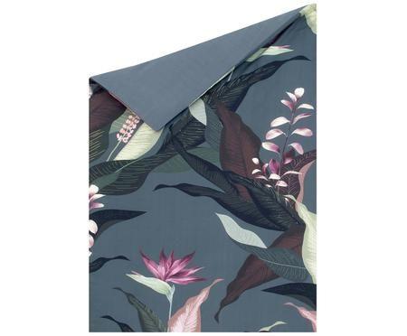 Housse de couette en satin de coton Flora