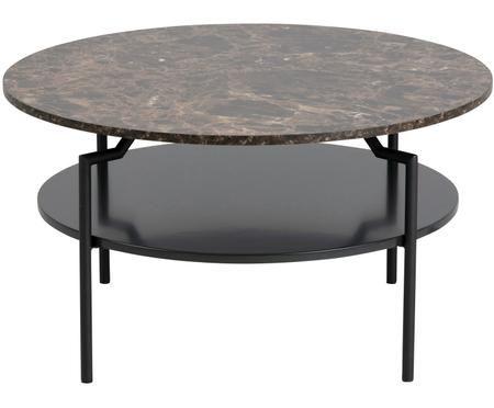 Couchtisch Goldington mit marmorierter Tischplatte