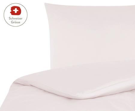 Baumwollsatin-Bettdeckenbezug Comfort in Rosa