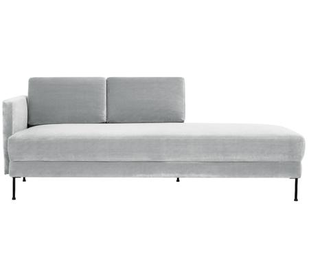 Chaise-longue in velluto Fluente