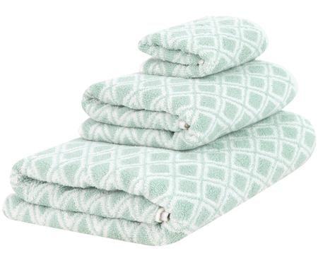 Dubbelzijdige handdoekenset Ava, 3-delig