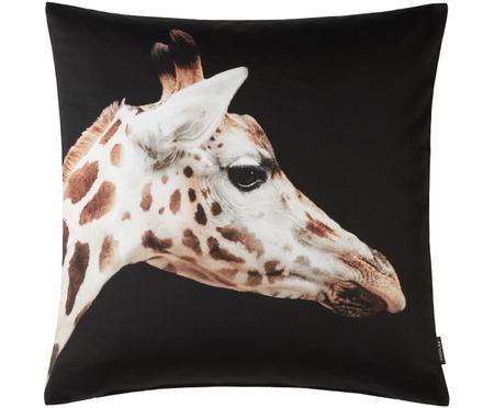Housse de coussin imprimé girafe Sid