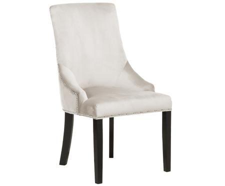 Krzesło tapicerowane z aksamitu Georgia