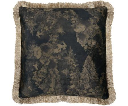 Cuscino in velluto Velvia Floral, con imbottitura