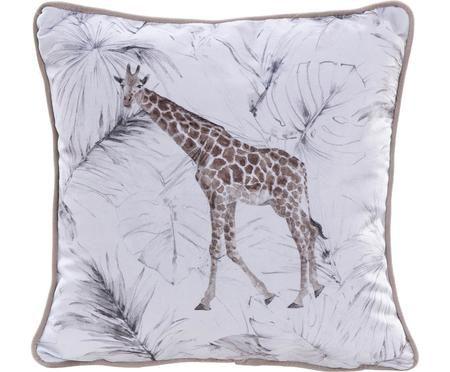 Cuscino in velluto con imbottitura Giraffe
