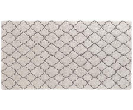 Hochflor-Teppich Grace in Creme-Grau