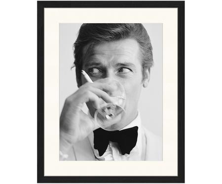 Stampa digitale incorniciata James Bond Drinking