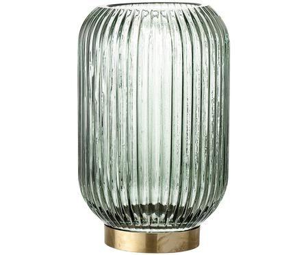 Portacandela in vetro Stripe