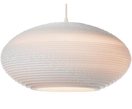 Hanglamp Disc van  gerecycled golfkarton