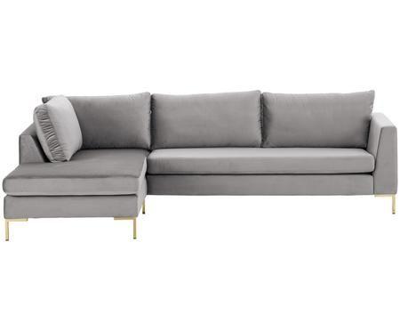 Sofa narożna z aksamitu Luna