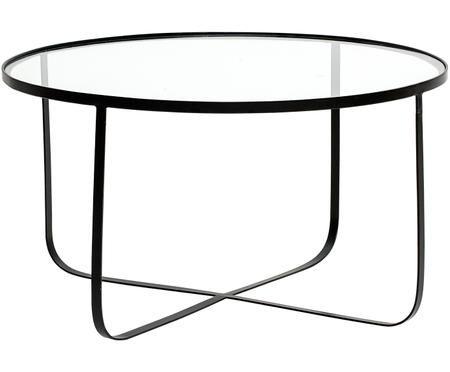 Metalen salontafel Harper met glazen tafelblad