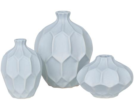 Vasen-Set Amalfi aus Steingut, 3-tlg.