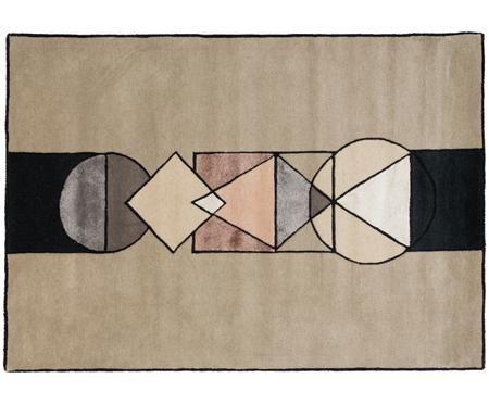 Handgetufteter Designteppich Aki aus Wolle