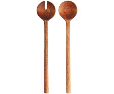 Posate da insalata in legno di acacia Matera, set di 2