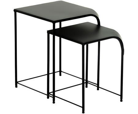 Set di due tavolini Plimton in metallo